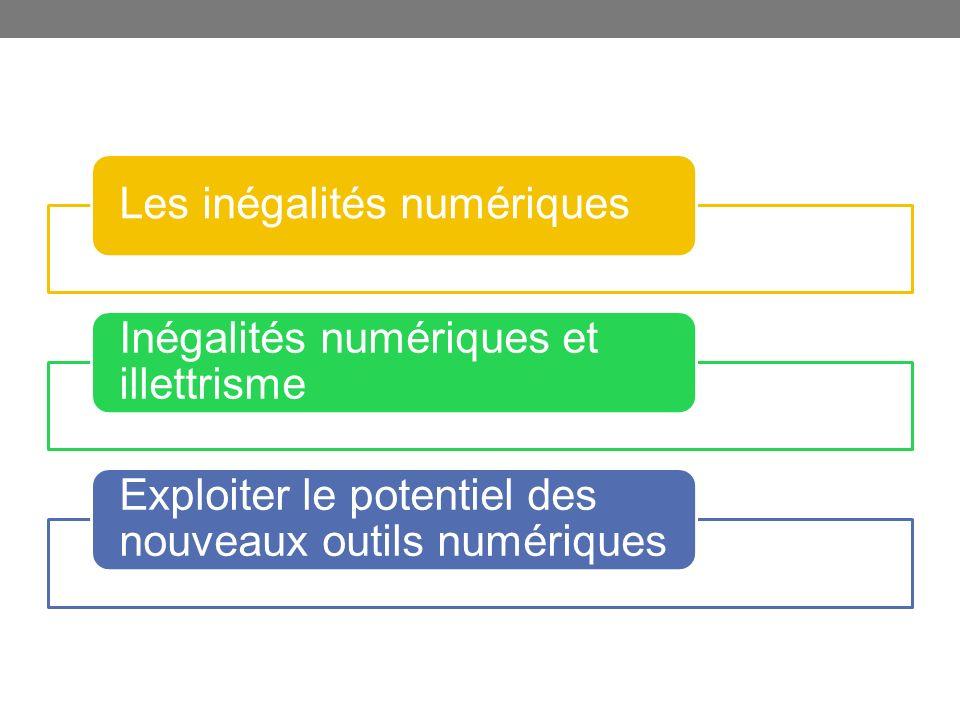 Les inégalités numériques Inégalités numériques et illettrisme Exploiter le potentiel des nouveaux outils numériques