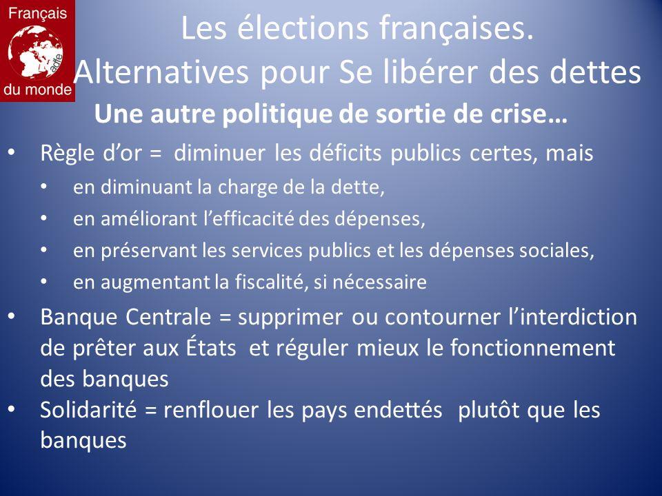 Les élections françaises.