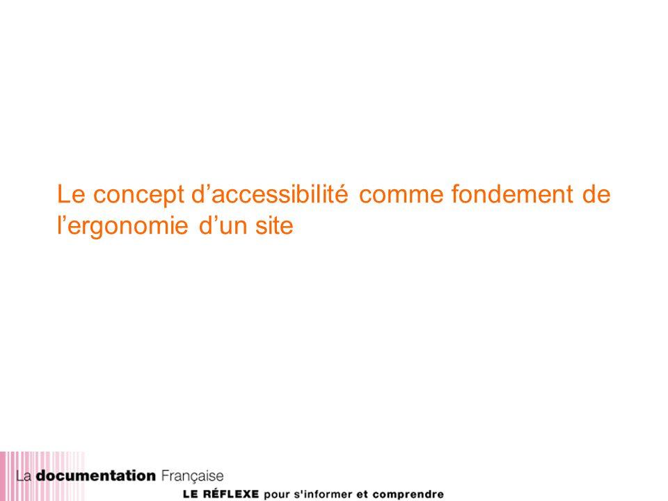 Le concept daccessibilité comme fondement de lergonomie dun site