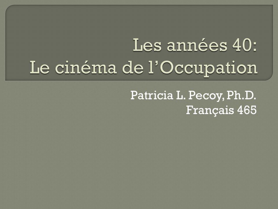 Patricia L. Pecoy, Ph.D. Français 465