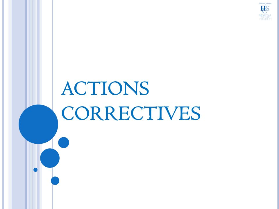 ACTIONS CORRECTIVES