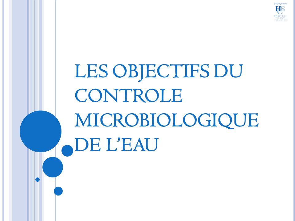 LES OBJECTIFS DU CONTROLE MICROBIOLOGIQUE DE LEAU