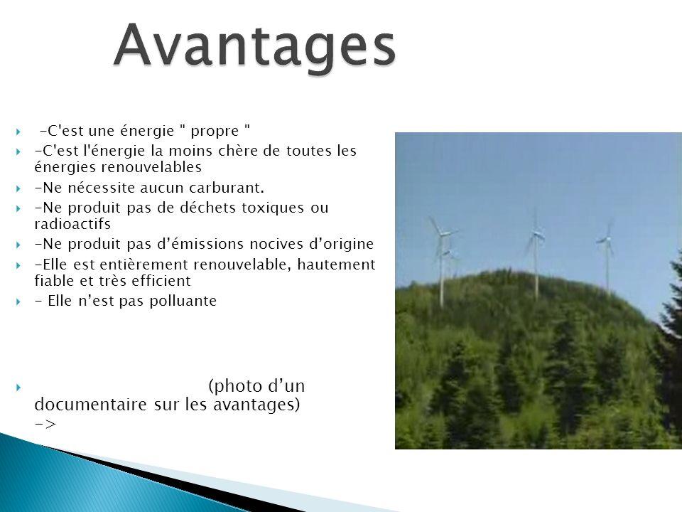 L électricité éolienne est une énergie intermittente, l énergie éolienne ne suffit pas en elle- même à définir une politique énergétique et environnementale.