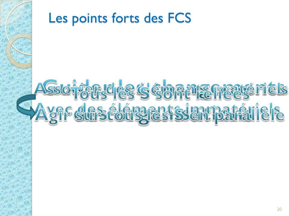 Les points forts des FCS 20