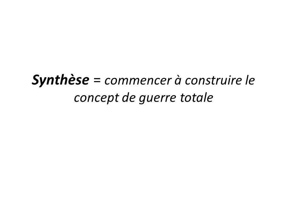 Synthèse = commencer à construire le concept de guerre totale