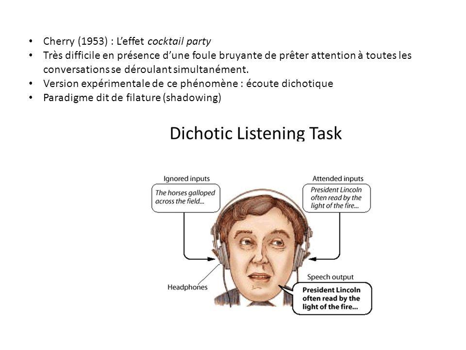 Donald Broadbent (1958 Perception and Communication) Enorme influence => psychologie cognitive et traitement de linformation