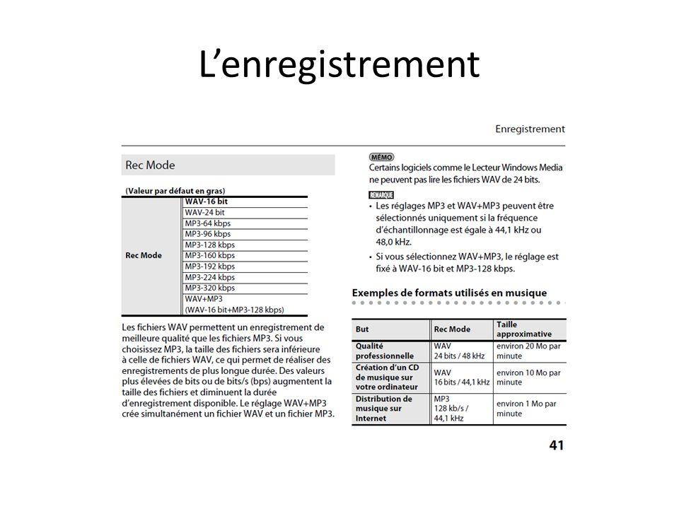 Lenregistrement