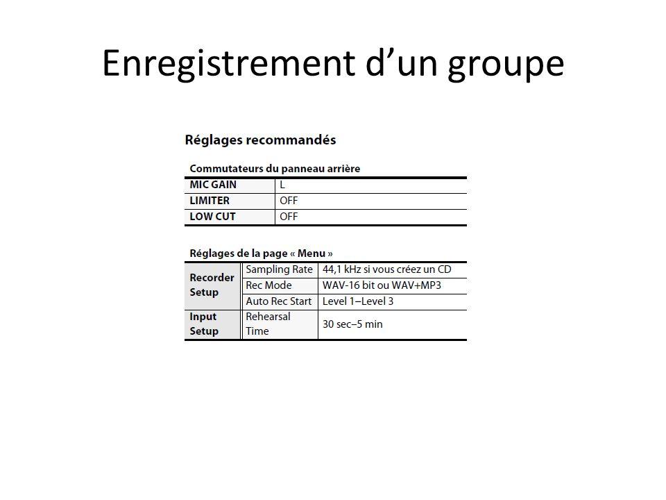 Enregistrement dun groupe
