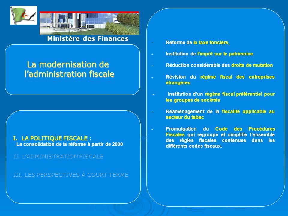 -Réforme de la taxe foncière, -Institution de limpôt sur le patrimoine.