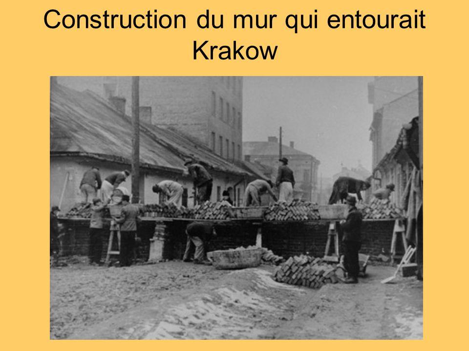 Construction du mur qui entourait Krakow