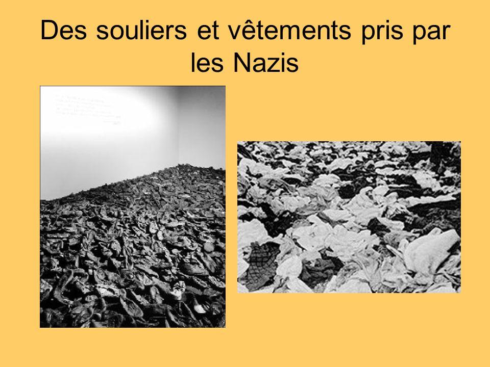Des souliers et vêtements pris par les Nazis
