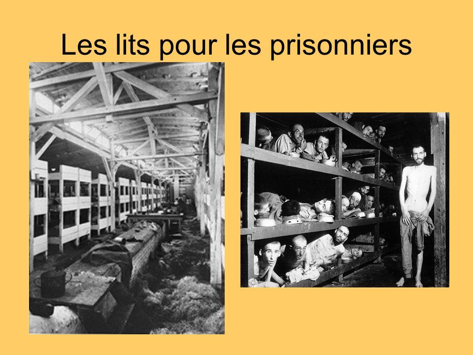 Les lits pour les prisonniers