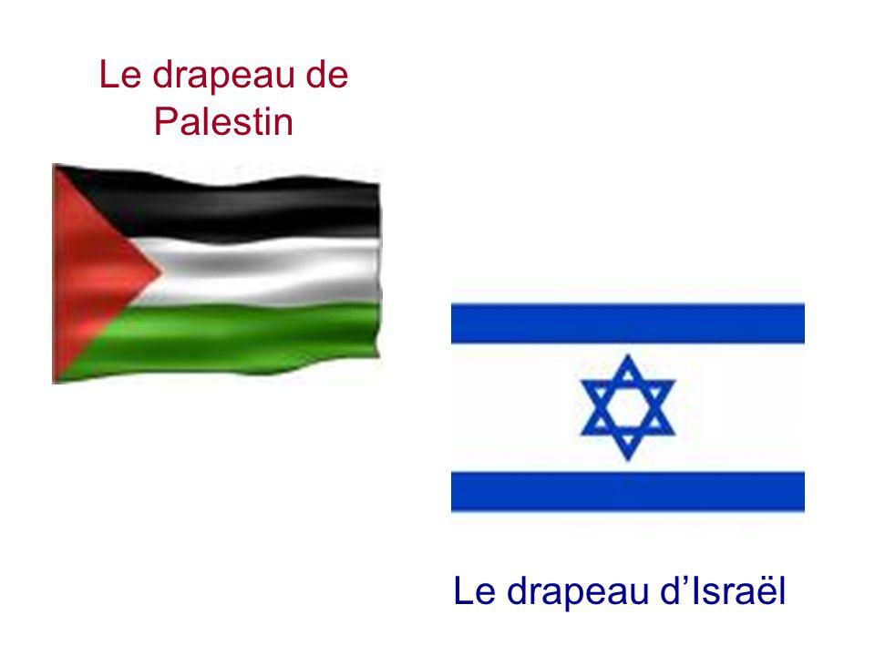 Le drapeau de Palestin Le drapeau dIsraël