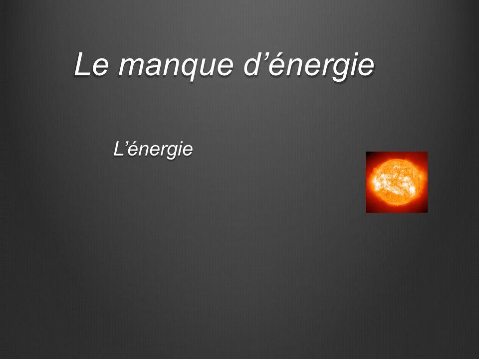 Le manque dénergie Lénergie