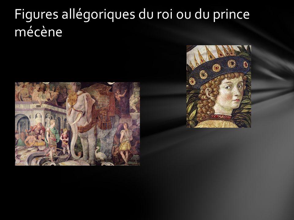 Figures allégoriques du roi ou du prince mécène