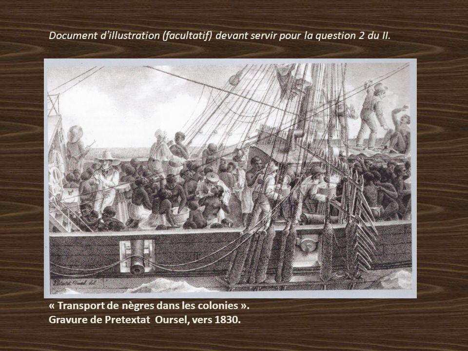 2) Imaginez daprès ces documents les conditions de la traversée de lAtlantique. Doc.2: Plan du navire négrier « Brookes » daprès Thomas Clarkson, 1789