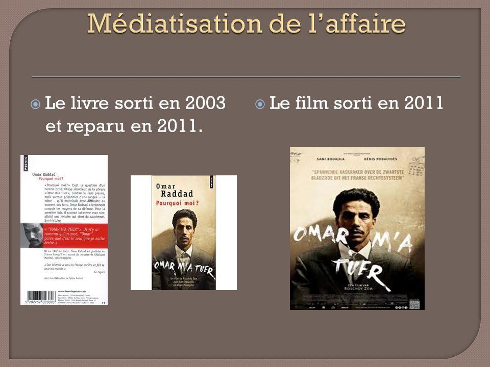 Le livre sorti en 2003 et reparu en 2011. Le film sorti en 2011