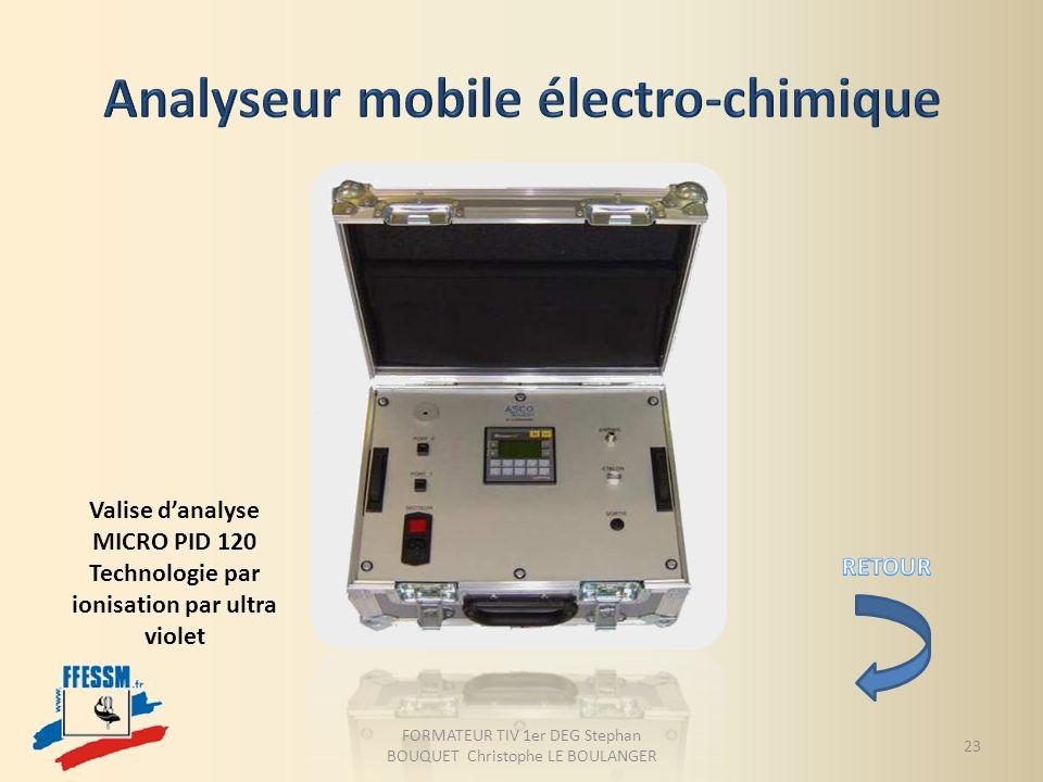 Valise danalyse MICRO PID 120 Technologie par ionisation par ultra violet FORMATEUR TIV 1er DEG Stephan BOUQUET Christophe LE BOULANGER 23