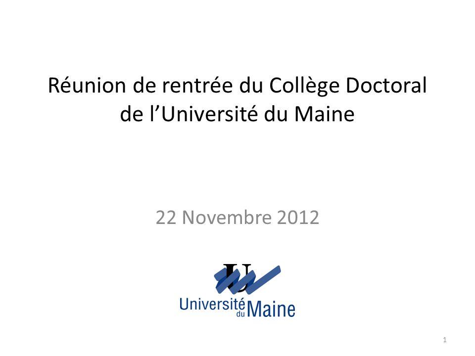 La formation doctorale dans les Pays de la Loire Un pôle de recherche et denseignement supérieur: lUniversité Nantes Angers Le Mans: PRES LUNAM (http://www.lunam.fr/)http://www.lunam.fr/ 9 Écoles doctorales (ED) régionales: – ED Biologie Santé (BS) – ED Cognition, Éducation, Interactions (CEI) – ED Droit Économie-Gestion, Sociétés, Territoires (DEGEST) – ED Droit et Science Politique Pierre Couvrat – ED Matière, Molécules, Matériaux en Pays de la Loire (3MPL) – ED Sociétés, Cultures, Échanges (SCE) – ED Sciences pour lIngénieur, Géosciences, Architecture (SPIGA) – ED Sciences et Technologies de lInformation et Mathématiques (STIM) – ED Végétal, Environnement, Nutrition, Agroalimentaire, Mer (VENAM) 3 collèges doctoraux (CD): Universités de Nantes, Angers et Le Mans 2