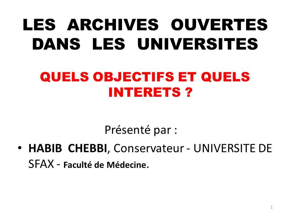 12 3.ARCHIVES OUVERTES . 3.1 Définition : 2/2 En anglais, cest Open Archive.