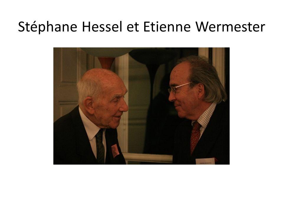 Stéphane Hessel et Etienne Wermester
