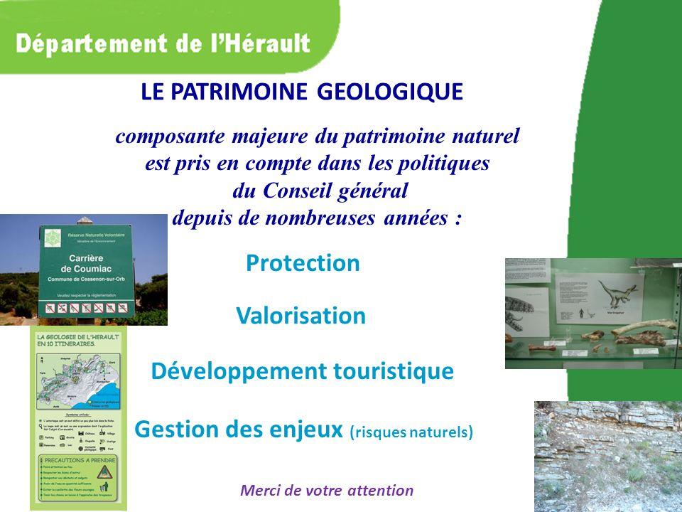 composante majeure du patrimoine naturel est pris en compte dans les politiques du Conseil général depuis de nombreuses années : Gestion des enjeux (r