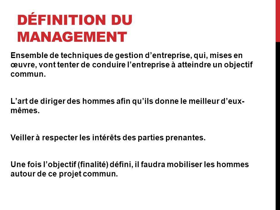 MANAGEMENT TACTIQUE