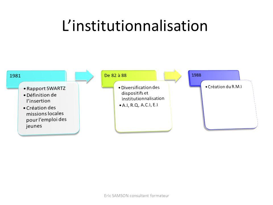 Linstitutionnalisation Eric SAMSON consultant formateur