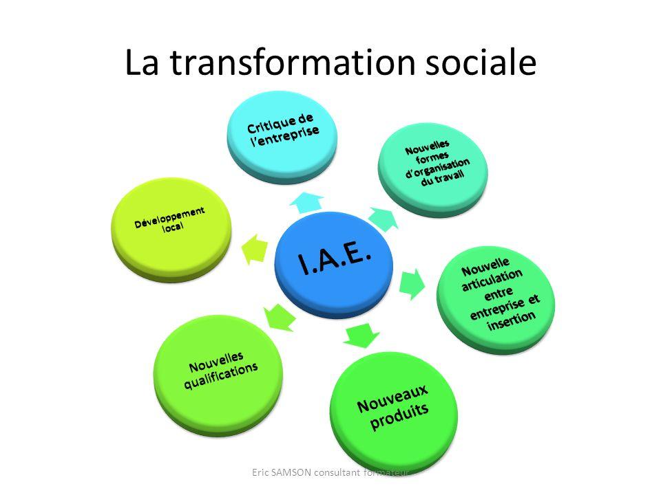 La transformation sociale Eric SAMSON consultant formateur