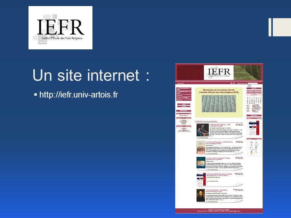Un site internet : http://iefr.univ-artois.fr