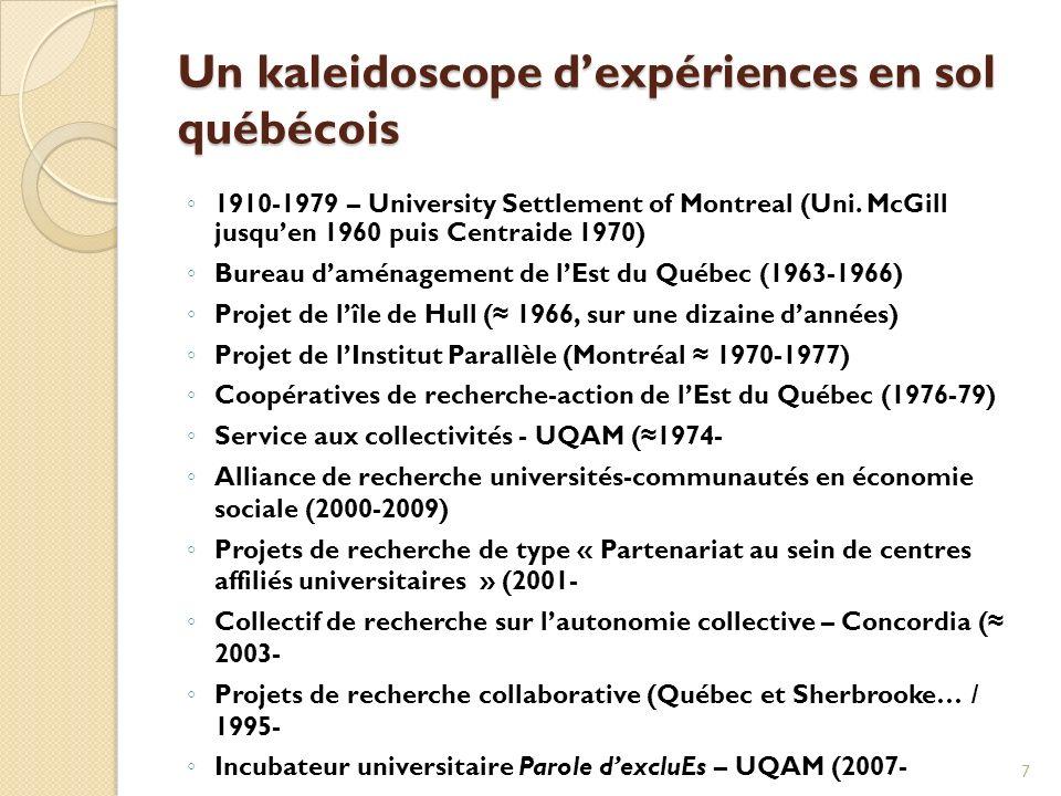 Un kaleidoscope dexpériences en sol québécois 1910-1979 – University Settlement of Montreal (Uni.