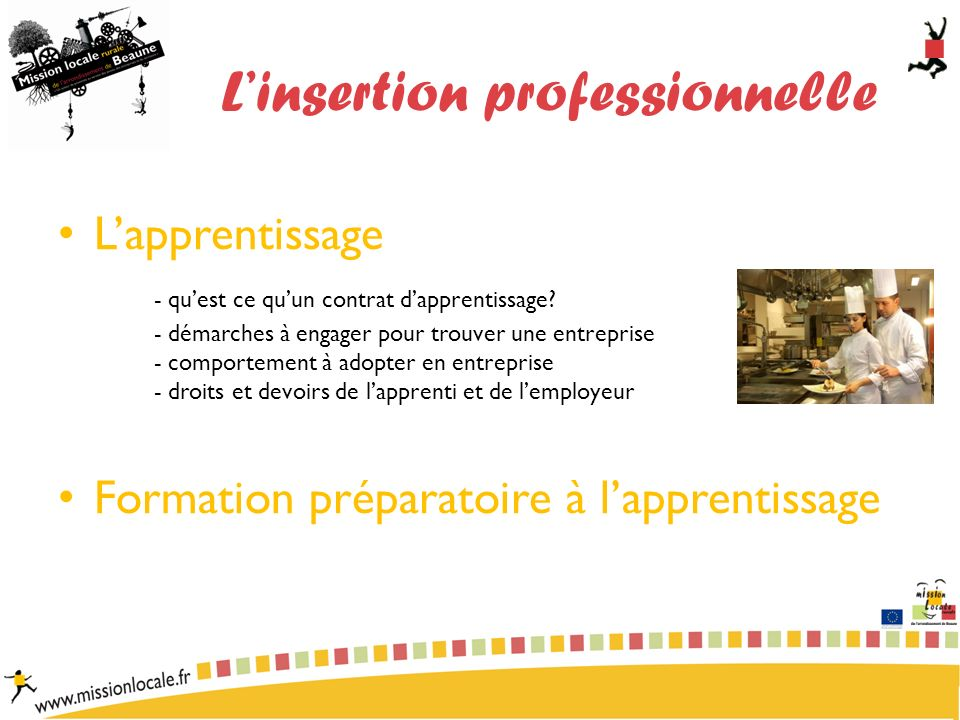 Linsertion professionnelle Lapprentissage - quest ce quun contrat dapprentissage.