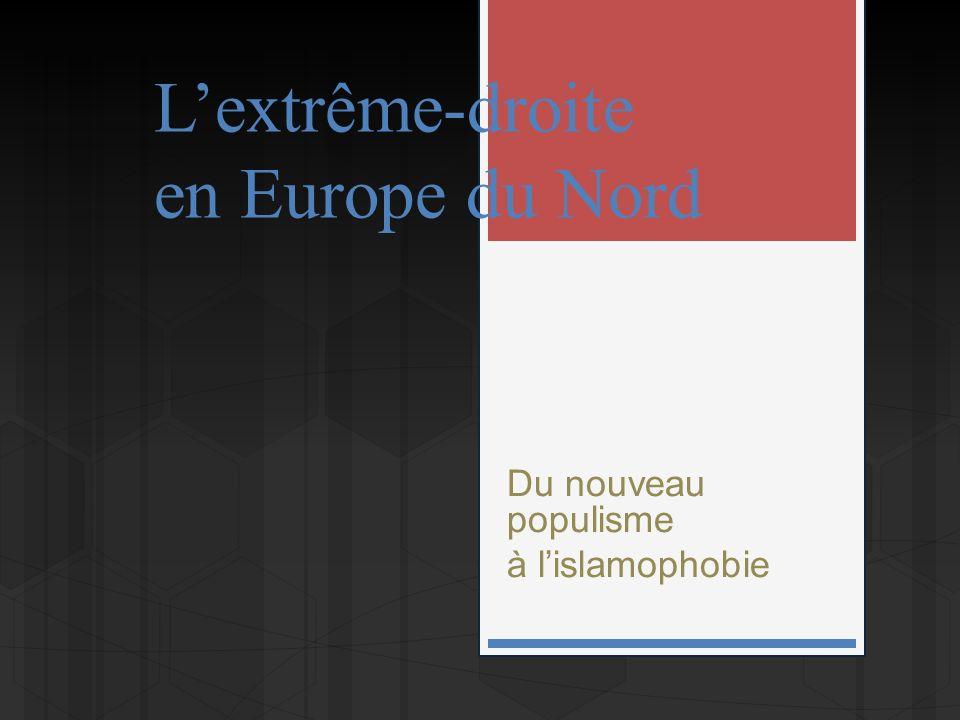 Lextrême-droite en Europe du Nord Du nouveau populisme à lislamophobie