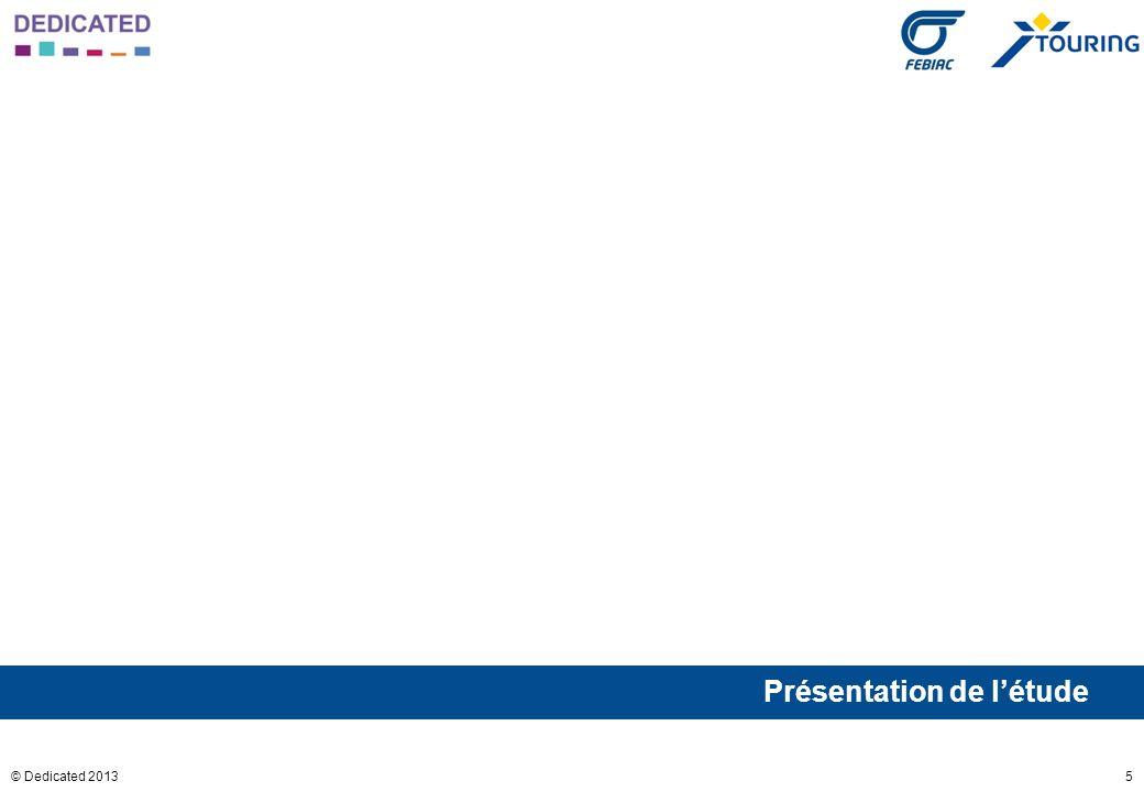 46© Dedicated 2013 Q : L Etat collecte en moyenne chaque année 15 milliards dEuros (soit 4% du PIB belge en 2012) en taxes sur les voitures et sur les automobilistes.