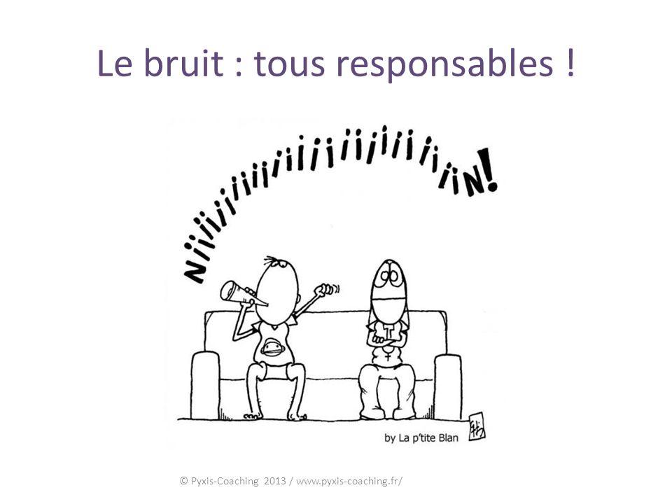 Le bruit : tous responsables ! © Pyxis-Coaching 2013 / www.pyxis-coaching.fr/