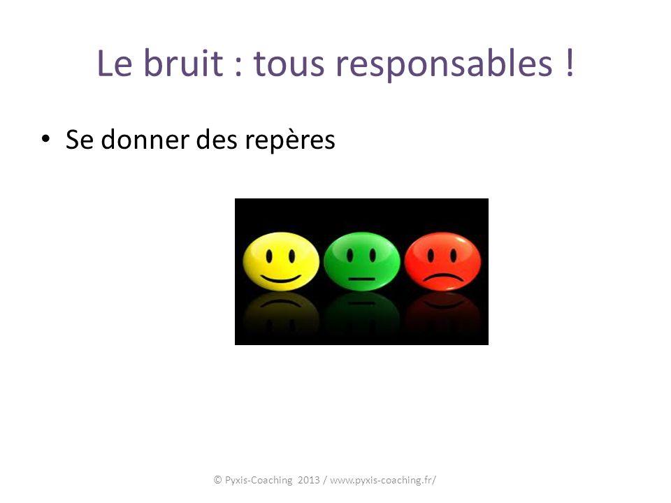 Le bruit : tous responsables ! Se donner des repères © Pyxis-Coaching 2013 / www.pyxis-coaching.fr/