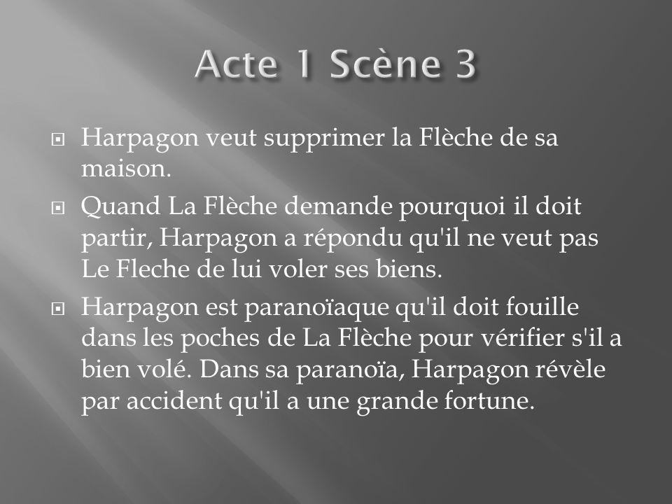 La scène commence par le monologue d Harpagon sur le droit davoir une grosse somme d argent.