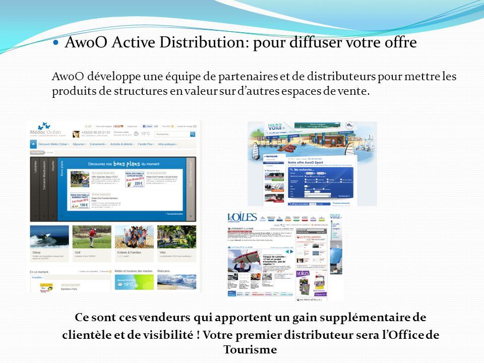 AwoO Active Distribution: pour diffuser votre offre AwoO développe une équipe de partenaires et de distributeurs pour mettre les produits de structure