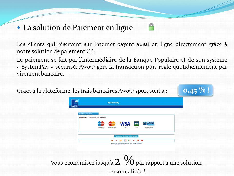 La solution de Paiement en ligne Les clients qui réservent sur Internet payent aussi en ligne directement grâce à notre solution de paiement CB. Le pa