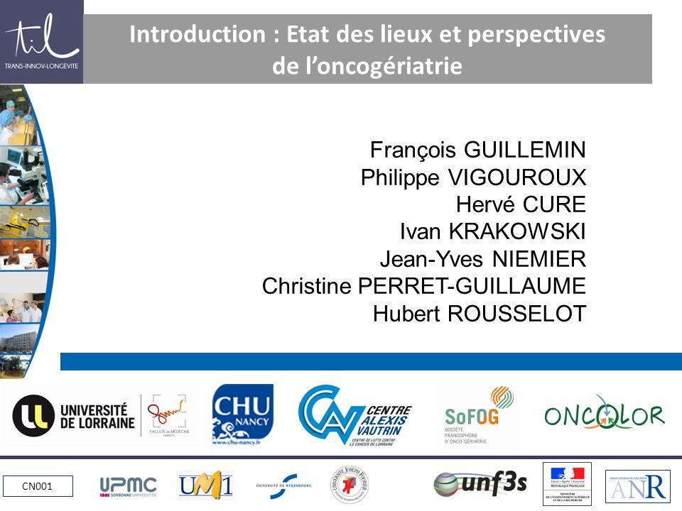 www.alexisvautrin.fr CN001 Printemps de loncogériatrie 2012 Mots daccueil Pr F.