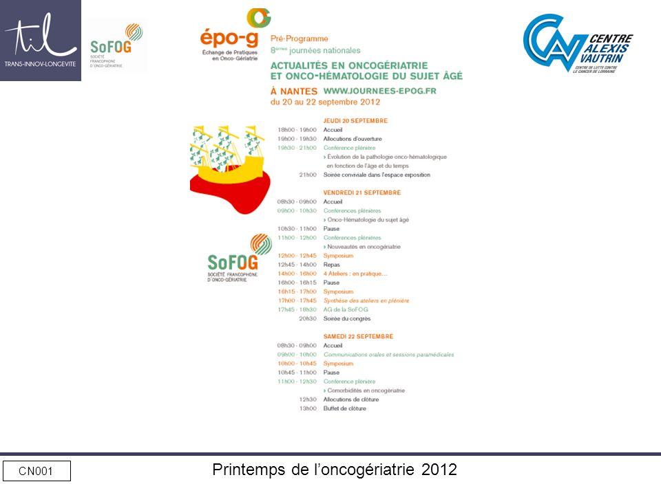 CN001 Printemps de loncogériatrie 2012
