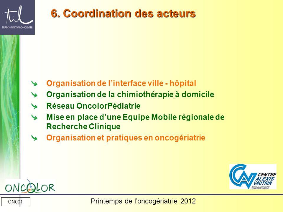 CN001 Printemps de loncogériatrie 2012 Organisation de linterface ville - hôpital Organisation de la chimiothérapie à domicile Réseau OncolorPédiatrie