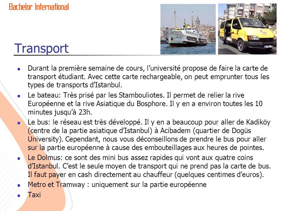 Transport Durant la première semaine de cours, luniversité propose de faire la carte de transport étudiant.