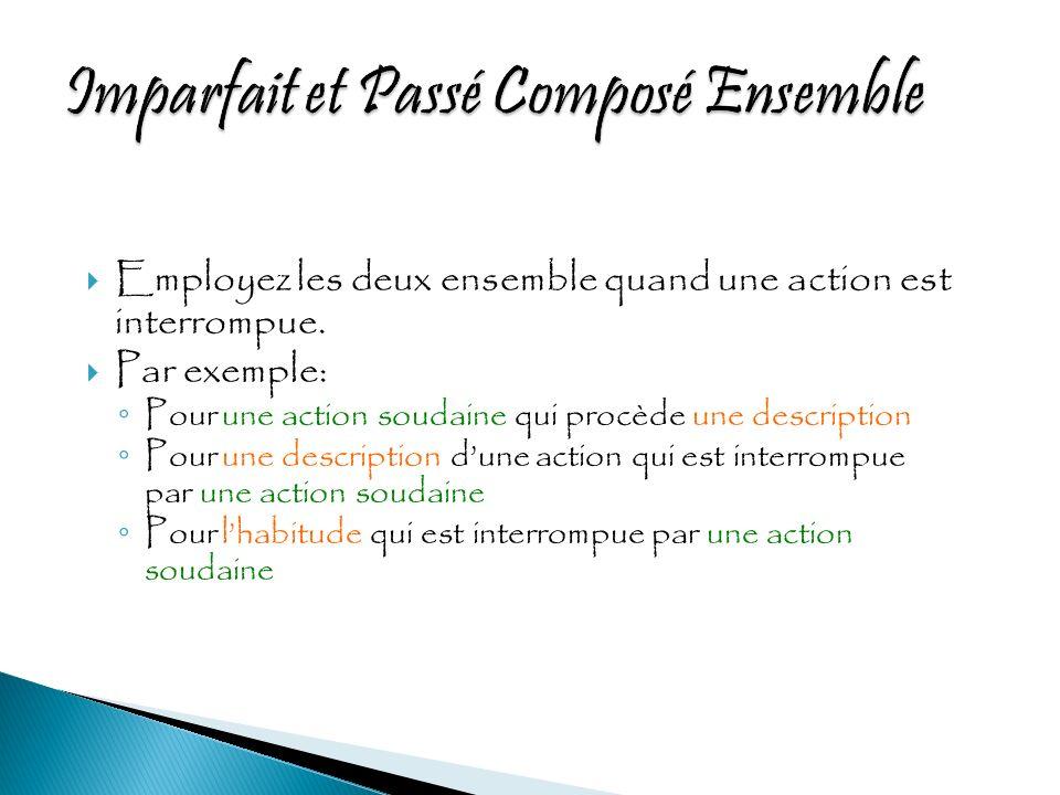 Actions habituelles Actions progressives Description Habitude Action point Plusieurs actions- points Durée limitée Répétition limitée