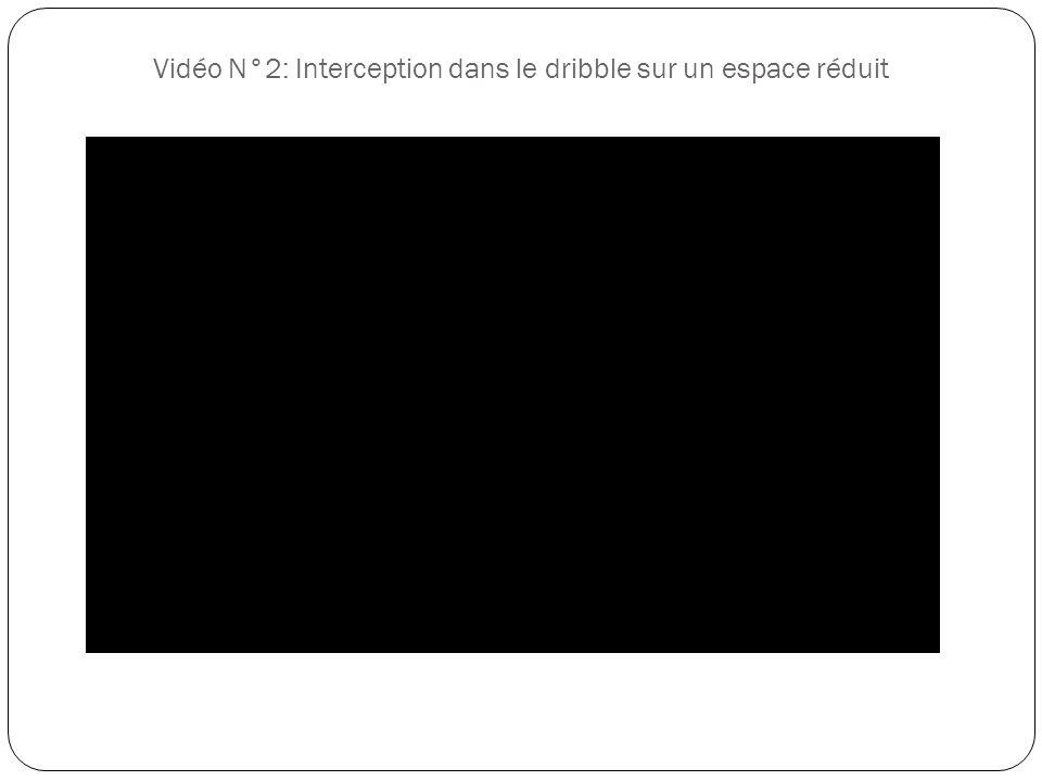Vidéo N°2: Interception dans le dribble sur un espace réduit