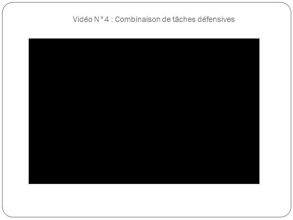 Vidéo N°4 : Combinaison de tâches défensives