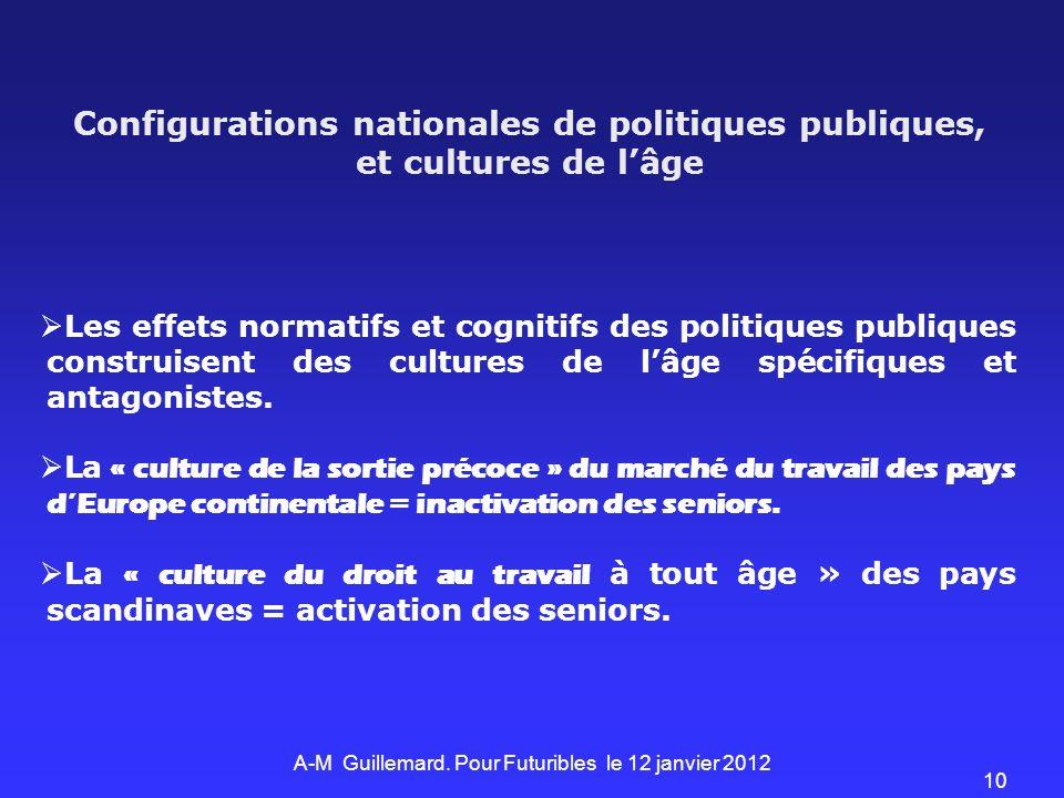Les effets normatifs et cognitifs des politiques publiques construisent des cultures de lâge spécifiques et antagonistes. La « culture de la sortie pr