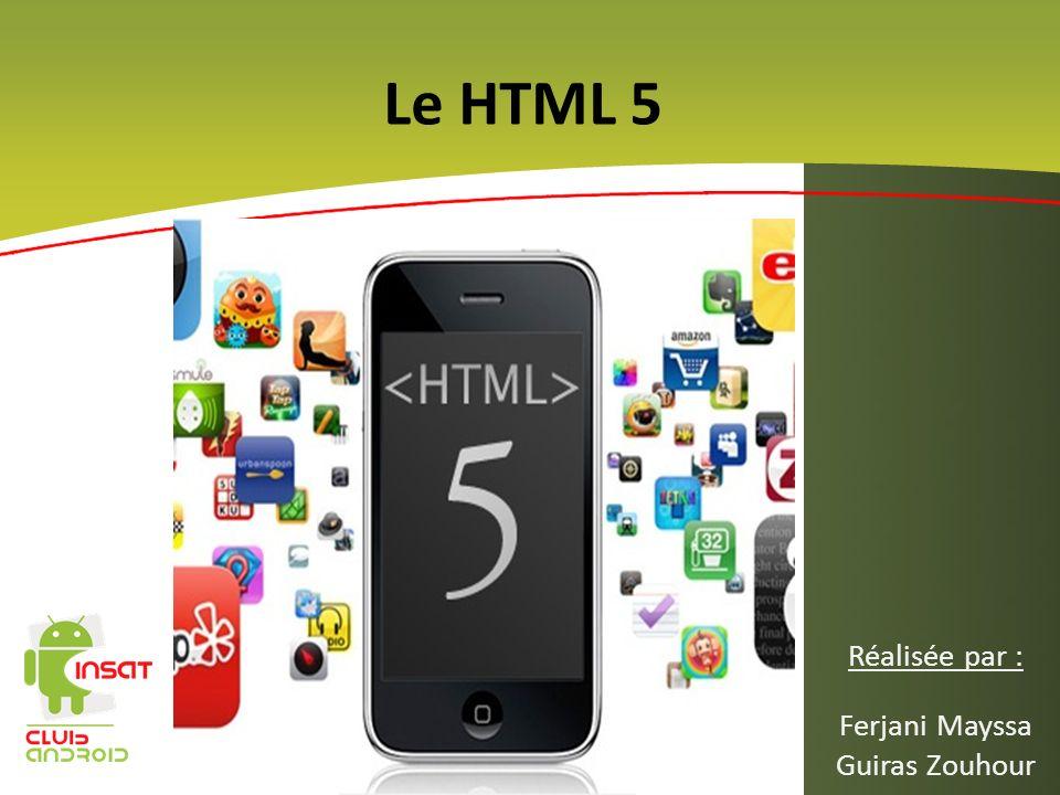 Sommaire La chronologie des technologies Web Quest ce que cest le HTML5 .