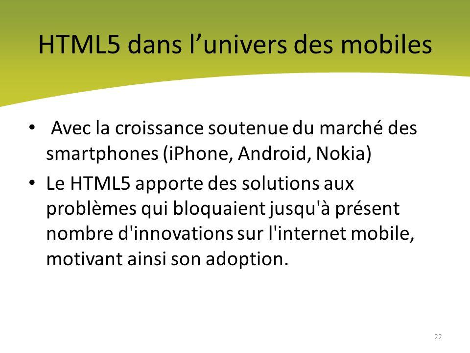 HTML5,quels apports pour le monde mobile.