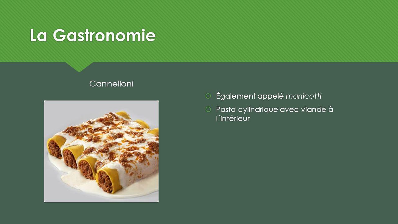 La Gastronomie Cannelloni Également appelé manicotti Pasta cylindrique avec viande à l´intérieur